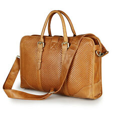Hot Fashion Mens Genuine Leather Handbag Messenger Shoulder Briefcase Laptop Bag