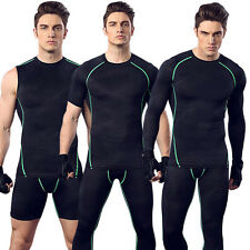 Men Compression Base Layer Tops Sleeveless Gym Running Sports Shirt Vest 3 Style