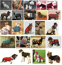RMC1 Dog Pet Coat Sweater Jacket Crochet Pet Pattern Reproduced Instructions ☆☆