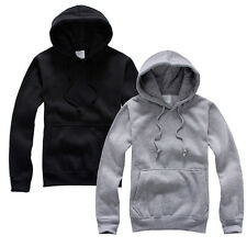 UK Unisex Hooded Sweatshirt Plain Hoodies Blank Pullover Hoodie Sweat Hooded