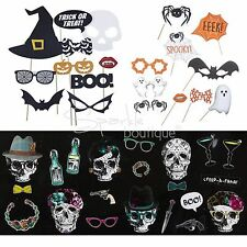 HALLOWEEN PHOTO PROPS - Spooky Photobooth Kits - Fun Party Game / Creepy Selfies