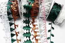 Bertie's Bows & May Arts Christmas Cut Out Trims~Holly~Trees~Snowflakes~Reindeer