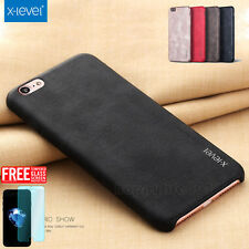 Luxury Ultra-thin PU Leather Back Skin Case Cover For Apple iPhone X 8 7 6S Plus