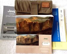 Jeep GRAND CHEROKEE Owner Manual 2006 + Case & Guides
