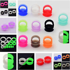 LOT 11 PAIRS Silicone Ear Flesh Tunnels Plugs Thin&Thick Ear Gauges Earskin