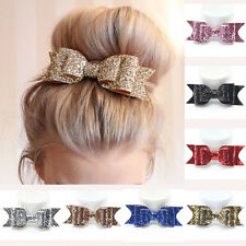 Girl Hairpin Large Bowknot Barrette Crystal Hair Clip Bow Accessories Xmas Gift