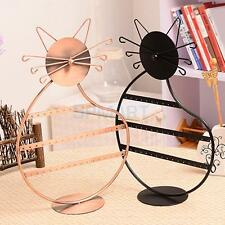 Kitty Cat Earrings Necklace Jewelry Display Stand Holder Show Rack Organizer