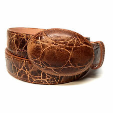 Los Altos Boots Brown Distressed Leather Belt