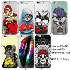 Cartoon Lovely funny Dog Cat Boxing Sexy Lips Silicone Case Cover For iphone