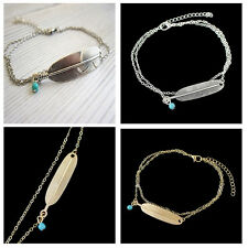 Silver Plated Chain Anklet Bracelet Barefoot Beach Foot Sandal Jewelry Women