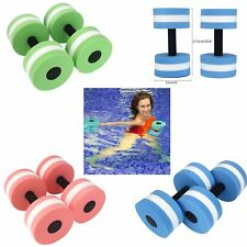 2pcs Water Aerobics Dumbbell MEDIUM Aquatic Barbell Aqua Fitness Pool Exercise