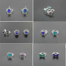 Hot Sell Alloy Mix Design Mood Change Color Temperature Adjustable Fashion rings