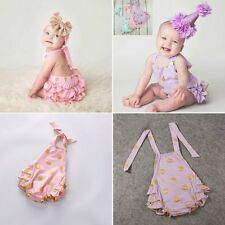 Infant Baby Girl Clothes Lace Rufflel Bodysuit Romper Cake Sunsuit Outfits 0-18M