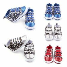 Fashion Infant Toddler Baby Boys Girls Soft Sole Crib Shoes Sequin Sneaker 0-12M