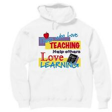 Pullover Hooded Occupational Sweatshirt Those Who Love Teaching Help Learning
