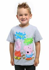 Peppa Pig & George Pig Mud Puddles Boys Toddler Tee