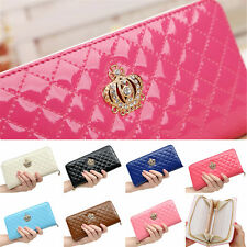 Handbag Purse Fashion Ladies Womens Zip Bag Quilted Clutch Long Leather Wallet