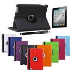 Leather 360° Degree Rotating Smart Stand Case Cover For iPad 4 iPad 3 & iPad 2