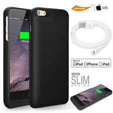 Mobile Power Bank Battery Charger Case F iPhone 6 Plus 5.5 Flat Lightning Cable