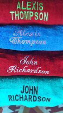 """Luxury Towels  / personalised with  """"TWO""""  names of  choice FREE TOWEL OFFER"""