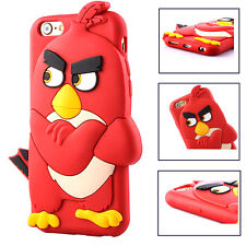Soft Sillicone Red Angry Bird Case  For Apple iPhone 5/5s 6/6s iPhone 6/6s Plus