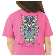 Country Life Southern Attitude Owl Don't Give A Hoot Pink Bright Girlie T-Shirt