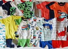 Carters two piece pajama set top shorts boys size 18 24 months 6 7