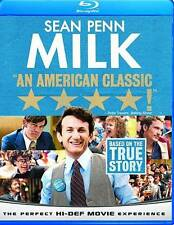 *Milk*Blu-ray Disc* 2009*New and factory sealed*Free shipping in USA*