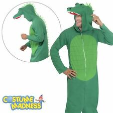Crocodile Oneise Fancy Dress Festival Costume Party Animals Adult
