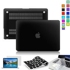 "Hard Rubberized Case For Macbook Pro 13.3"" Clear Screen Film Keyboard Cover AU"
