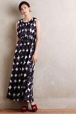 NEW ANTHROPOLOGIE $158 Inkwash Maxi Dress Dear Creatures Womens Blue Lined NWT