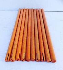 """Wooden Tinker Toys Parts JUMBO~ Lot:10 ORANGE RODS ~10.25"""" Replacement Pieces"""