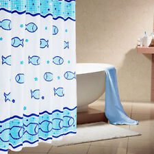 New WaterProof Bath Bathroom Home Fabric Shower Curtain Liner Seabed Fish