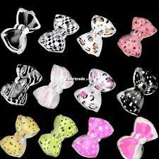 20PCS New Bow Tie Slices Nail Art Tips Butterfly Beads Bowknot Decoration ESY1