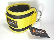 NEOPRENE 'YELLOW' Power Strap Ankle Strap (SINGLE) For Gym Machine Attachment