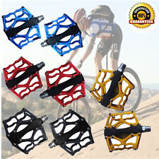 "MTB/BMX Road Mountain Bike Platform Pedals Flat Alloy Sealed Bear 9/16"" Pair AP"