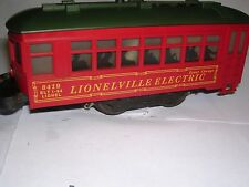 LIONEL P/W  #8419 LIONELVILLE ELECTRIC TROLLEY  WITH POST WAR CHASS  VERY  GOOD