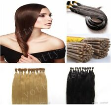 16''100s 0.4g Pre Bonde keratin Stick I Tip Remy Human Straight Hair Extensions