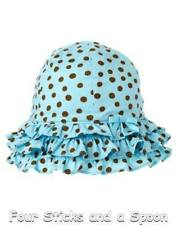 """NWT"" Gymboree Baby Girl's Island Beauty Blue Polka Dot Sunhat Hat Size: 12-18 M"