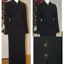 AMAZING  ST. JOHN KNIT FANTASTIC BLACK SKIRT SUIT SZ 10