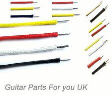 Cloth covered waxed 22 AWG 16.02mm electric guitar hook up wire