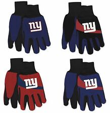 NWT NFL New York Giants No Slip Gripper Palm Utility Work Gardening Gloves NEW!