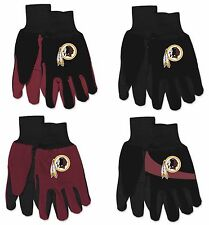 NWT NFL Washington Redskins No Slip Gripper Palm Utility Work Gardening Gloves