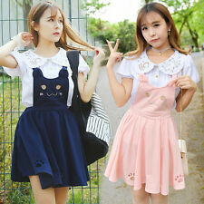 Cat Princess Embroidered Hollow Out Cat Claw Dress Japanese Sleeveless Lolita