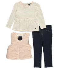 "Nautica Little Girls' Toddler ""Picnic Park"" 3-Piece Outfit (Sizes 2T - 4T)"