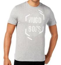Hugo Boss Men's Sport Casual Boss Green Graphic Logo Shirt T-shirt Grey 50312850