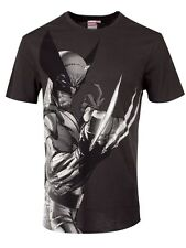 Marvel Wolverine Profile Men's Grey T-Shirt - NEW & OFFICIAL
