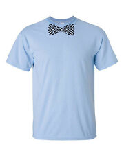 Checkered BOWTIE Bow Tie Formal Dress Tuxedo College Party Men's Tee Shirt