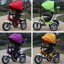 Pneumatic Tire Safty Baby Kid Toddler Tricycle Stroller Ride-On Pram New