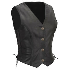 Womens Leather Vest with Braid detail Size 4 - 24